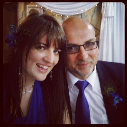 Posing with the father of the bride...a.k.a my other dad:)