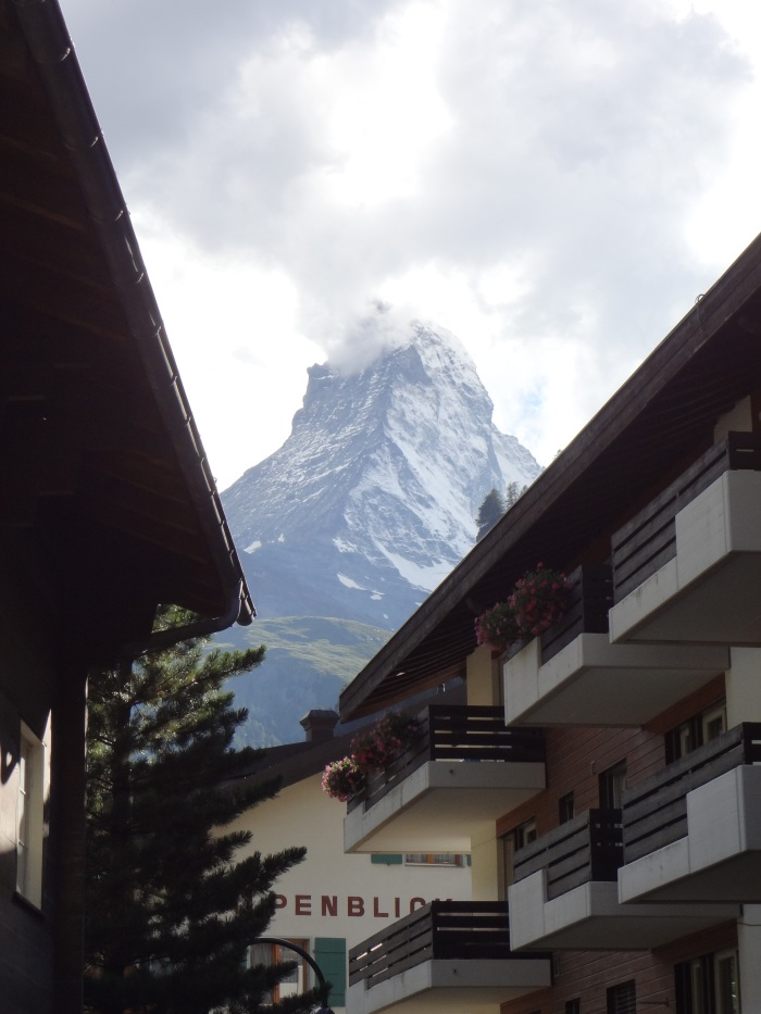 Our fist glimpse of the majestic Matterhorn