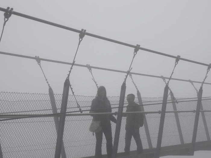 That's me posing on the bridge while being swallowed by a cloud.