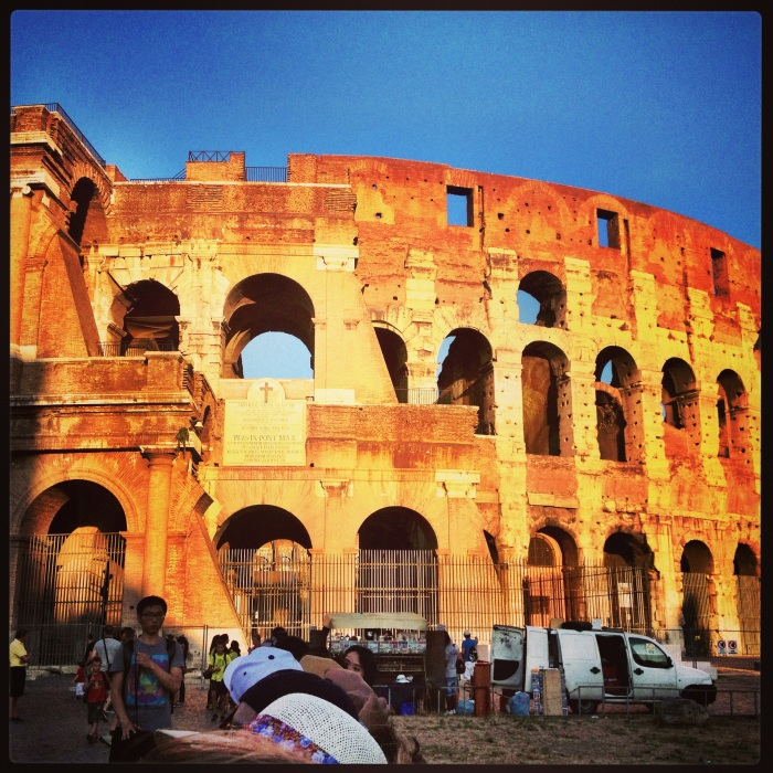 The Colosseum..it is majestic!
